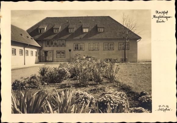 AK Hohe Boerde Sachsen Anhalt Teilansicht vom Rasthof Magdeburger Boerde 1