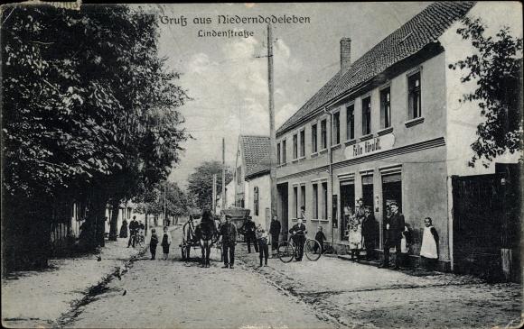 AK Niederndodeleben Hohe Boerde Sachsen Anhalt Lindenstrasse Geschaeft Felix Hoeroldt 1