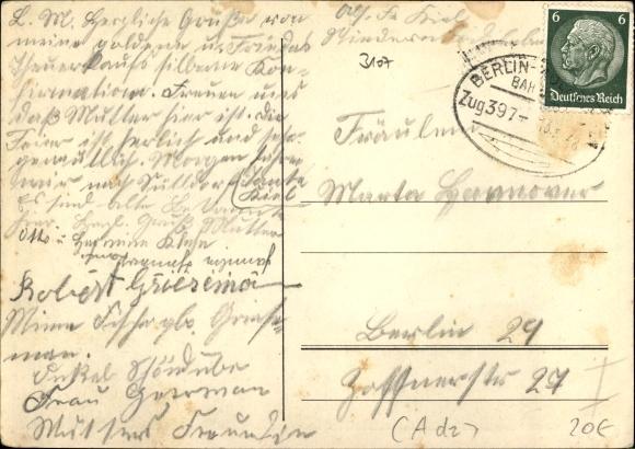 Postkarte Niederndodeleben Boerde in Sachsen Anhalt 1000jh Stadtfest 1937 Ackerpflug 2